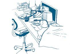 Werkplek illustratie aqua 826x640